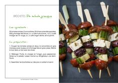 Cliquer sur l'image pour agrandir.  Découvrez notre recette de Brochettes de salade grecque à réaliser lors de vos Evénements Beauté T.E.B.L. entre amis.