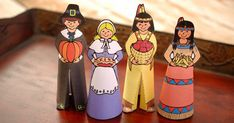 paper pilgrim and indian dolls this is another fun and easy craft project for both adults
