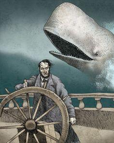 Illustration by Julian de Narvaez for Moby Dick