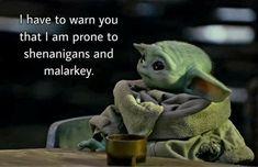 Sarcastic Quotes, Funny Quotes, Funny Memes, Hilarious, Yoda Meme, Yoda Funny, Yoda Images, Star Wars Jokes, Star Wars Baby