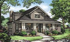 Plan 75565GB: 2 Bed Bungalow House Plan with Vaulted