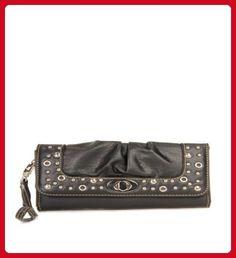 Black Studded Turnlock Wristlet Wallet - Wallets (*Amazon Partner-Link)