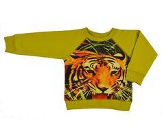 Stoere sweater van Baba Babywear. Net binnen! #kindzoblij #nuonline #aw15 #webshop #jongenskleding #babababywear #stoer #kinderkleding #biologischkatoen #eerlijkekinderkleding #tijger