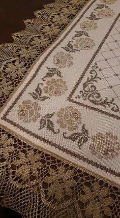 Cross Stitch Borders, Cross Stitch Charts, Cross Stitch Designs, Cross Stitch Embroidery, Cross Stitch Patterns, Hand Embroidery Design Patterns, Palestinian Embroidery, Crochet Bedspread, Headband Pattern