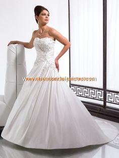 Moderne 2013 Brautkleider aus Satin mit Schleppe und Korsage