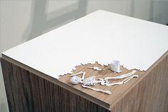Paper Sculptures by Peter Callesen   Click through for full post! #paper #art #sculpture #papercut #paperart #skeleton