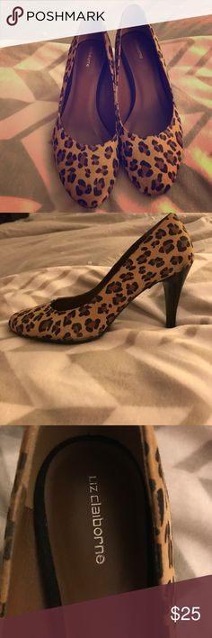 Liz Claiborne Heels Hardly worn Liz Claiborne Lepoard print pumps. Thea shoes will jazz up any outfit and are perfect for professional wear or night life! Liz Claiborne Shoes Heels