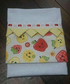 Pano de copa alvejado 100% algodão. Medidas: 46x69 Composição do barrado: tricoline 100% algodão