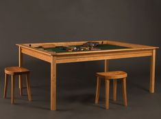 Lovely A Normal Dining Or Coffee Table That Turns Into A Gaming Table. I Love  Multi Purpose Furniture! Cherry Portal With Game Vault, Hardwood Leaves  Removed, ...