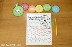This Sight Word Caterpillar is a GREAT way to work with 218 sight words (pre-primer, primer, 1st grade, 2nd grade and 3rd grade)!