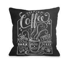 Premium Coffee Throw Pillow