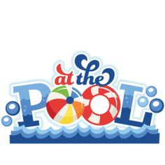 At the Pool Title SVG