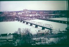 Harrisburg PA from Wormleysburg    Photo taken about 1973 from near Negley Park in Lemoyne Pennsylvania of the Susquehanna River iced over.