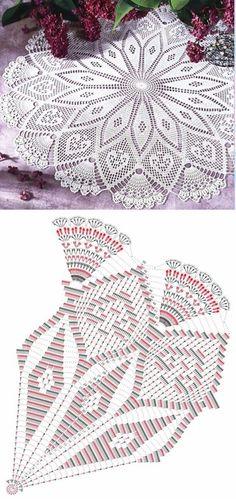 Crochet Table Runner Pattern, Free Crochet Doily Patterns, Tunisian Crochet Patterns, Crochet Mat, Crochet Doily Diagram, Crochet Circles, Crochet Tablecloth, Thread Crochet, Filet Crochet