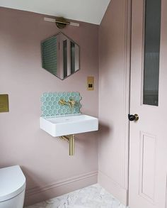 """Crosswater Bathrooms on Instagram: """"Showing how easy it is to add colour to your contemporary space, @daisyhouserenovation has used our MPRO brassware in Brushed Brass to…"""""""