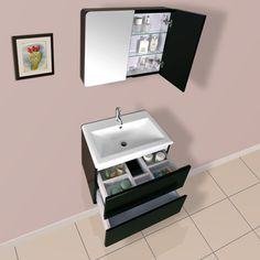 DreamLine Wall-mounted Modern Bathroom Vanity Set | Overstock.com