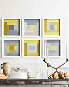 Room RX: Patchwork: 6 ways to decorate with quilts Geometric Patterns, Quilt Patterns, Kids Patterns, Easy Sewing Projects, Sewing Projects For Beginners, Diy Projects, Sewing Crafts, Quilt Modernen, Martha Stewart Crafts
