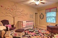 Baby girl nursery room decoration