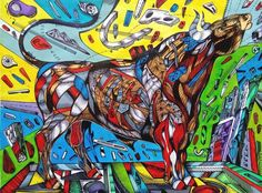 A bull painting represents power, movement, strength, and a connection with a uniqueness that we got from nature.It is also a symbol of unpredictability.