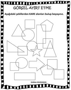 Letter Form, Color Shapes, Pre School, Preschool Activities, Worksheets, Lettering, Education, Note Cards, Studying