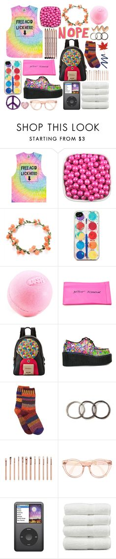 """""""mr. brightside"""" by paper-towns ❤ liked on Polyvore featuring UNIF, Zero Gravity, Aveda, Betsey Johnson, Paul Frank, Solmate Socks, Pearls Before Swine, ZOEVA and Linum Home Textiles"""