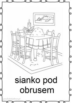 tradycje-kolorowanki12 Things To Do, Education, Children, Prints, Christmas, Winter, Things To Make, Young Children, Xmas