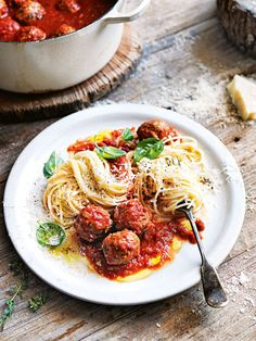 "Best spaghetti and meatballs recipe I've ever used - this is my ""go-to"". Freezes beautifully."