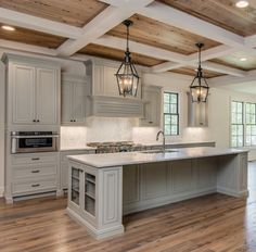 Love this color cabinets and floors and ceiling. My favorite kitchen