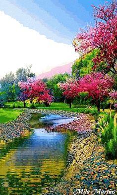 's photo. Beautiful Landscape Wallpaper, Beautiful Landscapes, Beautiful Gardens, Beautiful Nature Pictures, Amazing Nature, Simply Beautiful, Landscape Photography, Nature Photography, Fantasy Landscape
