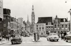 Gedempte Zuiderdiep hoek Rademarkt Groningen 1957