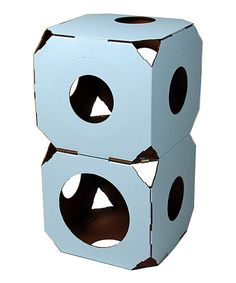 Look at this Sky Blue Catty Stacks Cat Condo Block - Set of Two on #zulily today!