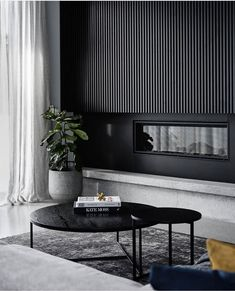 Favourite living area I have seen in a while! Living Room Designs, Living Room Decor, Concrete Look Tile, Concrete Fireplace, Fireplace Design, Tv Wand, Timber Panelling, Online Furniture Stores, Furniture Shopping