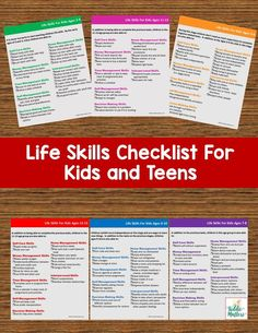 Life skills checklists for kids and teens. Use these checklists as a guide to help you assess kids' ability to complete age appropriate tasks independently. Life Skills Lessons, Life Skills Activities, Life Skills Classroom, Teaching Life Skills, Help Teaching, Coping Skills, Social Skills, Social Activities, Educational Activities