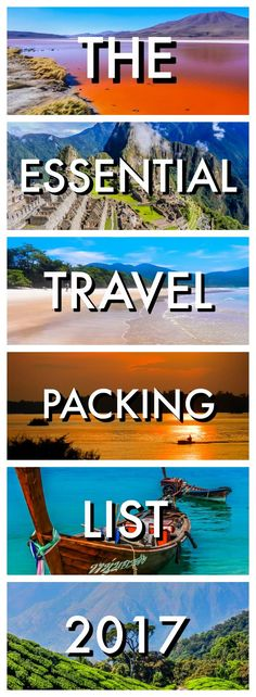 You won't forget anything with our Essential Travel Packing List for 2017. We've got everything covered for a short vacation or epic around the world trip. Travel Tips | Best Travel advice | Packing for Travel | What you need to pack when travelling | Ess