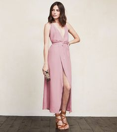 Reformation Clara Dress in Dusty Rose // pink dress