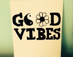 Good Vibes Quote Canvas