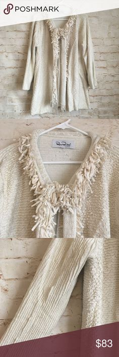 ​Pepa Pombo Hand Made Cardigan Sweater Pepa Pombo Women's Size Large Beige Acrylic Hand Made Cardigan Sweater Armpit to Armpit - 20.5 Inches Length - 30 Inches Gently Used Condition Pepa Pombo Sweaters