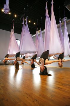 Beautiful Aerial Yoga - Get the at home silks equipment on Amazon.com