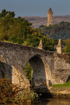 Bridge at Stirling & Wallace monument - Scotland
