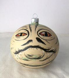 AWESOME - Star Wars Jabba the Hutt Painted Holiday Christmas Ornament by GingerPots on Etsy #nerd #geek #gift