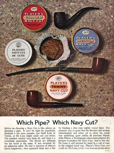 1964 Navy Cut Players Tobacco Pipe Advert
