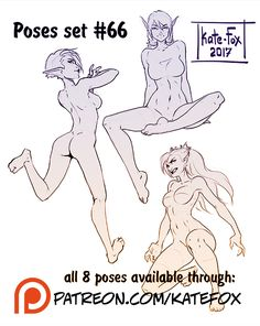 Pose study 66 by Kate-FoX