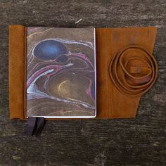 Woven One Leather Journal Handbound by Odelae on Etsy