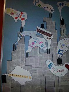Vu sur Facebook murale La grande fabrique de mots Cycle 3, Reading Fair, Album Jeunesse, Interactive Notebooks, Art Plastique, Cinema, Animation, Teaching, School