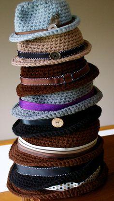 Crochet Classic Fedora Hat Pattern [Video] - #Crochet; Adult Sun #Hat Free Patterns