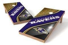 Baltimore Ravens Single Cornhole Board - Swirl