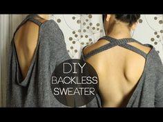 DIY Backless Shirt Pullover Rückenfreier Pullover AUS ALT MACH NEU