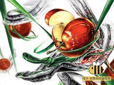 ☆★대구 비투비 미술학원☆★ 사과 기초디자인 은박접시 기초디자인 신발끈 기초디자인 건국대 기초디자인 영남대 기초디자인 자연물 기초디자인 기초디자인은 대구 비투비에서!~ Creative, Asdf, Painting, Design, Painting Art, Paintings, Design Comics