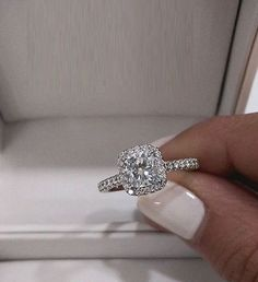 2.00Ct Round Halo Diamond Solitaire Engagement Wedding Ring Real 14k White Gold #Vivre #SolitaireWithAccents