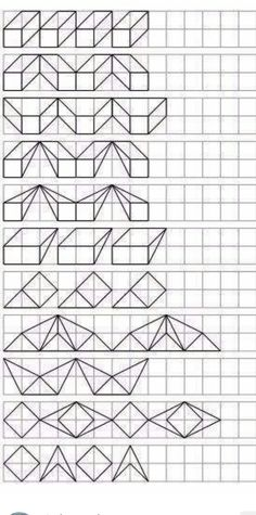 Blackwork Patterns, Doodle Patterns, Cross Stitch Patterns, Bullet Journal Books, Book Journal, Illusion 3d, Graph Paper Art, Zen Doodle, Drawing Lessons
